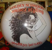 Helium advertising trade show balloons create excitement and sales. Giant 7ft. tradeshow balloons with artwork from $533.00. We can duplicate most artwork and logos.